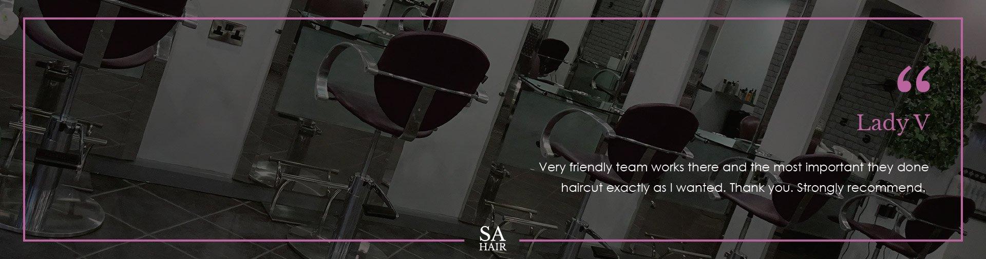 Testimonial Stephen Alexander Hairdressing salon in Chelmsford