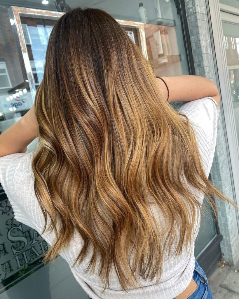 Caramel balayage best hairdressers chelmsford